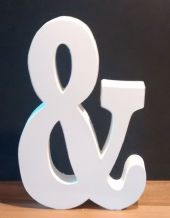 Large wooden ampersand & sign
